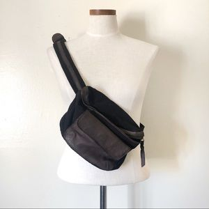 Free People Leather Trim Sling Fanny Pack